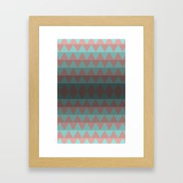 Green and Red Stripes  Framed Art Print