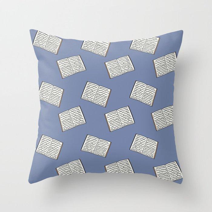 Open Book Pattern Throw Pillow