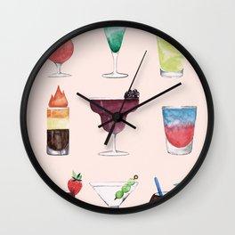 Summer Cocktails 6 Wall Clock