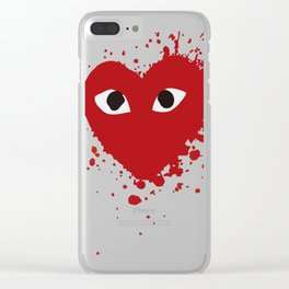 Play Comme des Garçons Bloody Clear iPhone Case