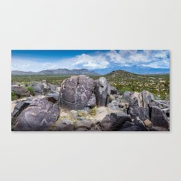 Three Rivers Petroglyphs in New Mexico Canvas Print