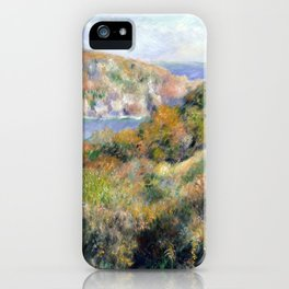 Renoir Hills around Bay of Moulin Huet Guernsey iPhone Case