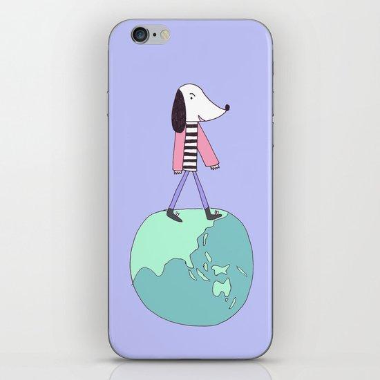 Dog globe iPhone & iPod Skin