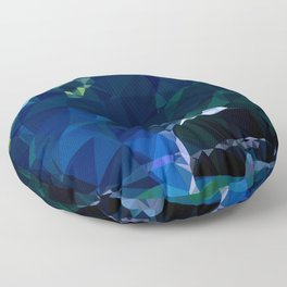 valley and mountains Floor Pillow