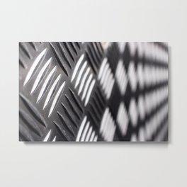 Checker plate metal Metal Print