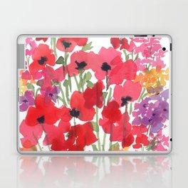 Little Red Poppy Patch Laptop & iPad Skin