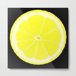 A Slice oF Lemon Metal Print