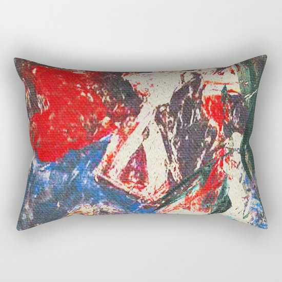 女性着物着て (woman wearing kimono) Rectangular Pillow