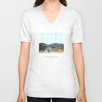 parks V-neck T-shirts featuring National Parks: Haleakalā by Roadtrippers