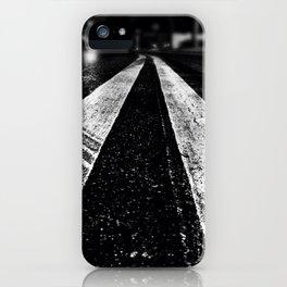 Wet asphalt. iPhone Case