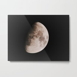 The Moon in Gibbous Metal Print
