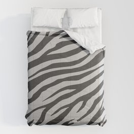 Soft Gray Wildlife Tiger Pattern Comforters
