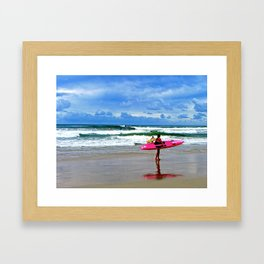 Surfing the day away. Framed Art Print