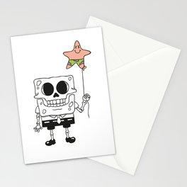 Spongebob Skull Stationery Cards