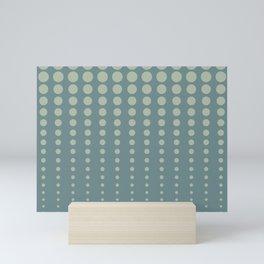 Tropical Blue-Green Reduced Polka Dot Pattern 2021 Color of the Year Aegean Teal Salisbury green Mini Art Print