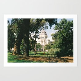 Peakin' through the gardens Art Print