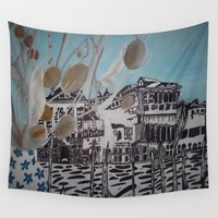 venice Wall Tapestries featuring Venice by Stefanie Sharp