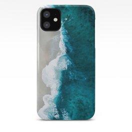 Dark blue beach iPhone Case