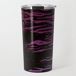 Purple Ocean Waves Travel Mug