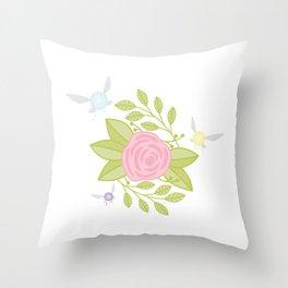 Garden of Fairies Throw Pillow