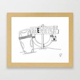 Baewatch. Framed Art Print