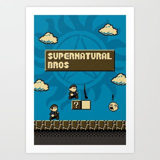 Supernatural Bros. Art Print
