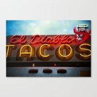 diablo Canvas Prints featuring El Diablo by Phil Provencio