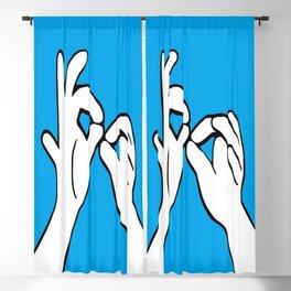 ASL Interpret Blackout Curtain