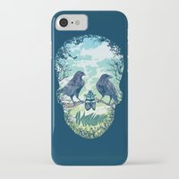 skull iPhone & iPod Cases featuring Nature's Skull by Rachel Caldwell