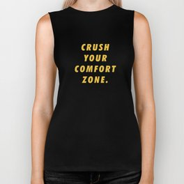 Crush Your Comfort Zone Motivational Inspirational Sayings Quotes Biker Tank