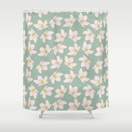 Apple Blossoms on a Breeze Shower Curtain