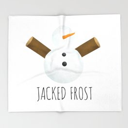 Jacked Frost Throw Blanket