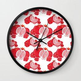 Pome and Holly Wall Clock