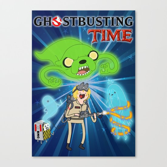 Ghostbusting Time Canvas Print
