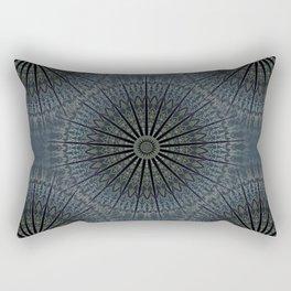 Dark Blue Mandala Rectangular Pillow