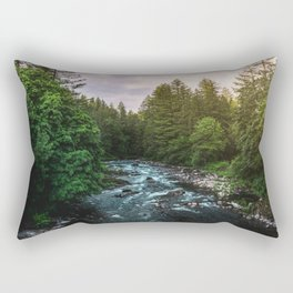 PNW River Run II - Pacific Northwest Nature Photography Rectangular Pillow
