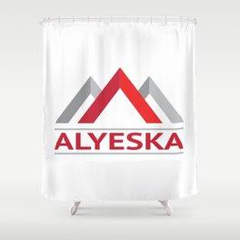 Alyeska Alaska Ski Snowboard Skiing Trail Map Resort Anchorage Valdez Shower Curtain