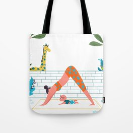 in a yoga state of mind Tote Bag