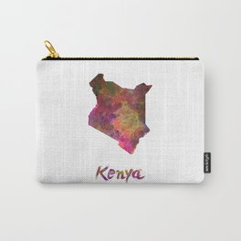 Kenya in watercolor Carry-All Pouch