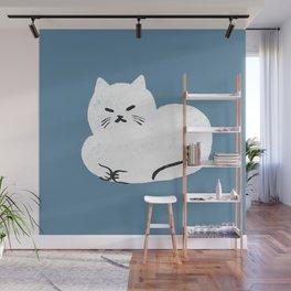 Comfy Cat WarmBlue Wall Mural