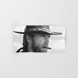 Clint Eastwood Smoking a Cigar Retro Vintage Art Hand & Bath Towel