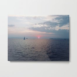 Lake Champlain Sunset Metal Print
