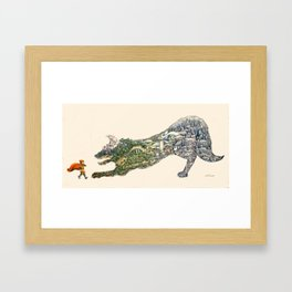 Beware The Wolf Framed Art Print