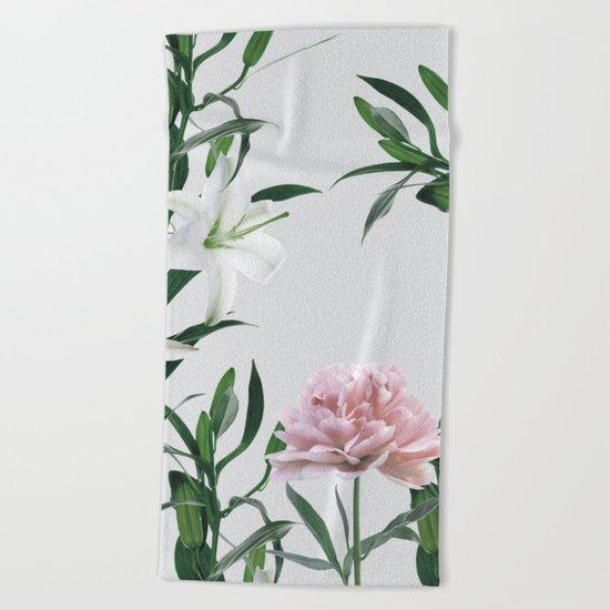 Vintage Botanical Beach Towel