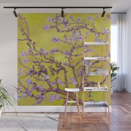 "Vincent van Gogh ""Almond Blossoms"" (edited gold) Wall Mural"