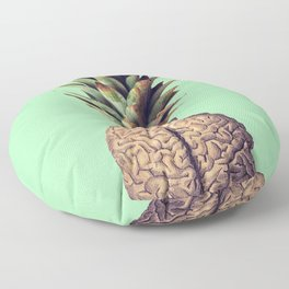 Pinebrain (pineapple) Floor Pillow