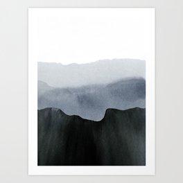 mountain horizon 2 Art Print