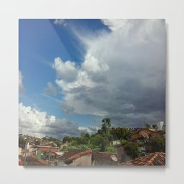 Antennas and Clouds Metal Print