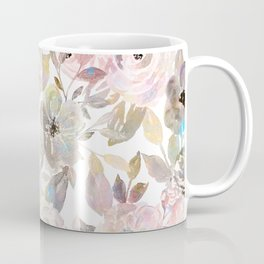 Elegant whimsical grey watercolor roses Coffee Mug