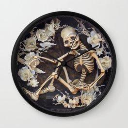 In Memoriam Skeleton  Wall Clock